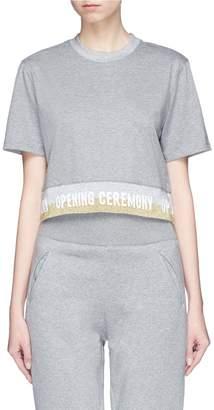 Opening Ceremony Logo jacquard cropped T-shirt