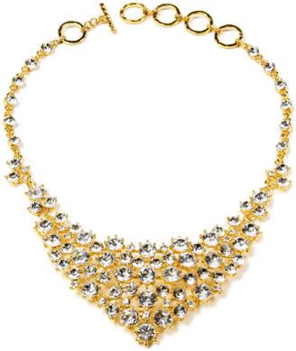 Amrita Singh Davis Plated Crystal Bib Necklace