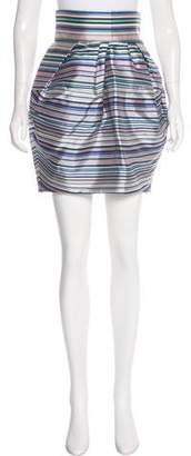 Christian Dior Silk Striped Skirt