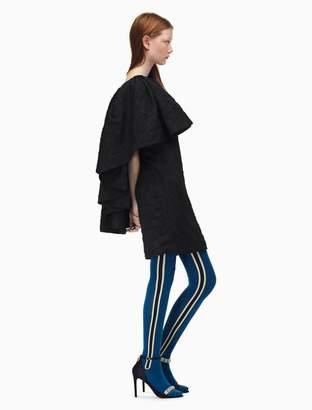 Calvin Klein rose cloque jacquard open back cocktail dress