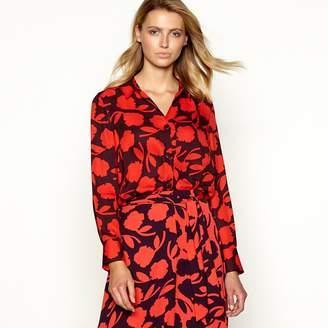 Principles Red Floral Print Long Sleeve Shirt