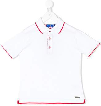 Stefano Ricci Kids contrast piped polo shirt