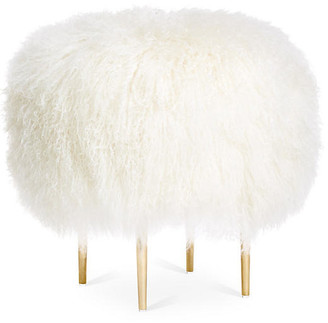 Le-Coterie Curly Rachel Stool - White