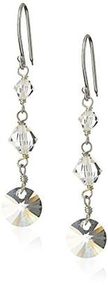 Swarovski Sterling Silver Elements Crystal Bicones and Lentil Earrings