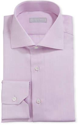 Stefano Ricci Men's Neat Print Textured Dress Shirt