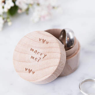 Keepsake Clouds and Currents Personalised Proposal Ring Box