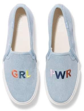 Keds Double Decker Embroidered Slip-On Sneaker - Women's