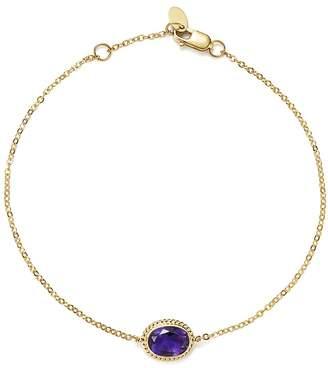 Bloomingdale's Amethyst Oval Bracelet in 14K Yellow Gold - 100% Exclusive