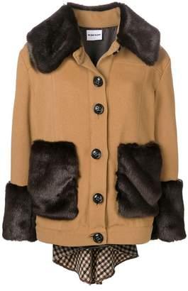 Au Jour Le Jour faux fur trim jacket