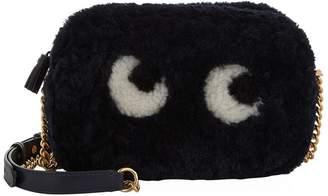 Anya Hindmarch Mini Shearling Eyes Cross Body Bag