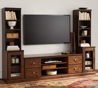 Pottery Barn Printer's 5-Piece Entertainment Center, Tuscan Chestnut