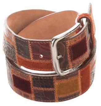 Etro Leather Patchwork Belt