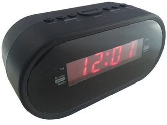 "Sylvania SCR1221 0.6"" Digital Alarm Clock Radio"