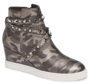 Linea Paolo Fallon Studded Wedge Sneaker