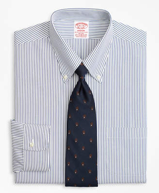 Brooks Brothers Stretch Madison Classic-Fit Dress Shirt, Non-Iron Pencil Stripe