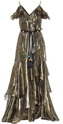 Peter Pilotto Silk-blend lamé gown