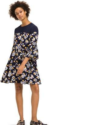 Tommy Hilfiger Floral Dot Bell-Sleeve Dress