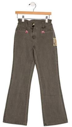 MonnaLisa Girls' Two Pocket Wide-Leg Pants w/ Tags