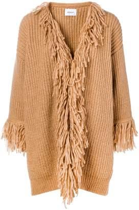 Dondup fringed cardi-coat