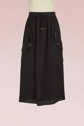 Kenzo Midi Length Silk Skirt