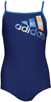 adidas Girls Logo Swimsuit Mystery Blue
