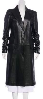 Gucci Long Leather Coat