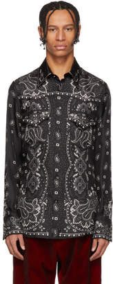 DSQUARED2 Black Silk Western Shirt