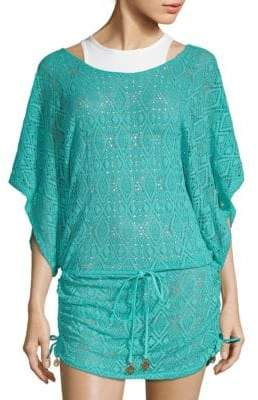 Luli Fama Geometrical Lace Coverup