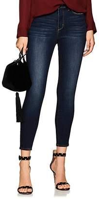 L'Agence Women's Margot High-Rise Skinny Jeans - Dk. Blue