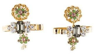 DSQUARED2 Crystal Bow Drop Earrings
