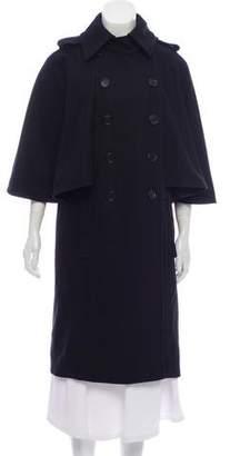 See by Chloe Virgin Wool Cap-Sleeve Coat