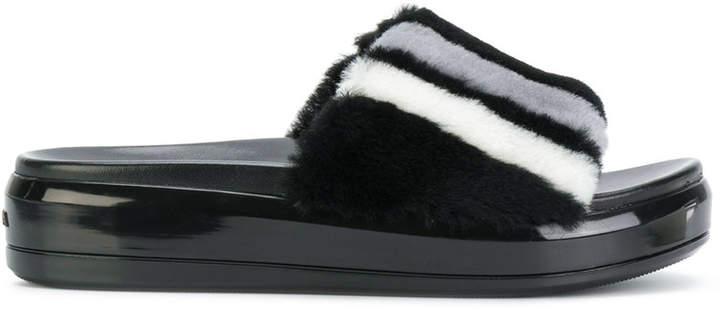 Prada shearling sandals