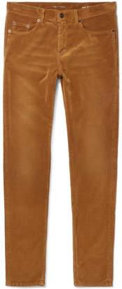Saint Laurent Skinny-Fit Cotton-Corduroy Trousers
