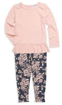 Splendid Baby's& Little Girl's Two-Piece Ruffle Top and Legging Set