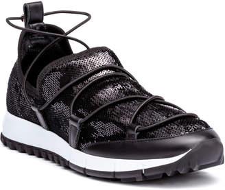Jimmy Choo Andrea black sequin sneakers