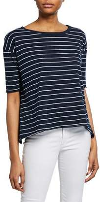 Frank And Eileen Core Striped Half-Sleeve Cotton Tee