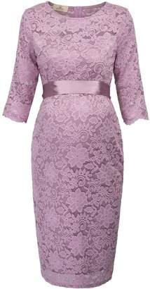 Trendy Fashion Pregnancy Womens Slim Fit Half Sleeve Lace Bodycon Dress L AF1026-1