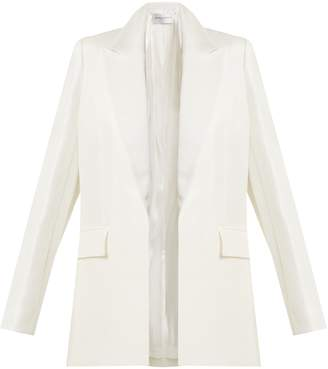 Amanda Wakeley Linen-blend peak-lapel jacket