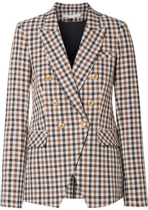Veronica Beard Lonny Dickey Checked Cotton-blend Blazer - Brown