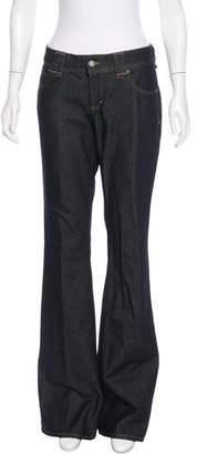 John Galliano Mid-Rise Flared Jeans