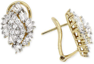 Macy's Diamond Cluster Earrings (1 ct. t.w.) in 14k Gold, Created for