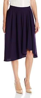 Lark & Ro Women's Draped Asymmetrical Hem Skirt