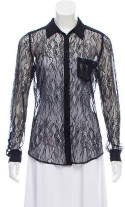 Equipment Lace Long Sleeve Top