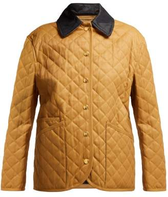 Burberry Dranefield Single Breasted Diamond Quilted Jacket - Womens - Beige Multi
