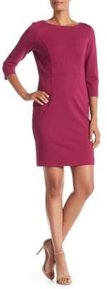 Monique Lagarde 3\u002F4 Sleeve Solid Dress