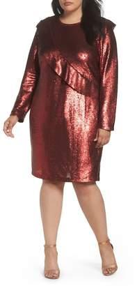 Glamorous Sequin Ruffle Dress (Plus Size)