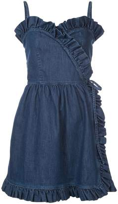 Stella McCartney denim sheer panel mini dress