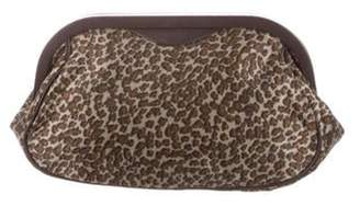 Bottega Veneta Animal Print Satin Frame Clutch multicolor Animal Print Satin Frame Clutch