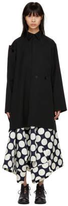 Yohji Yamamoto Black Wool Button Patched Jacket