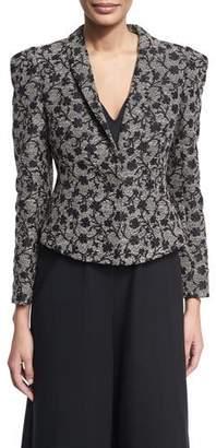 Co Floral Jacquard Structured Jacket, Black/Gold